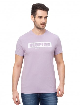 Being human voilet cotton round neck casual t-shirt