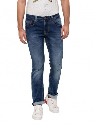 Being Human washed blue slim fit jeans