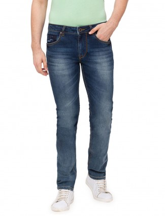 Being Human washed navy slim fit jeans