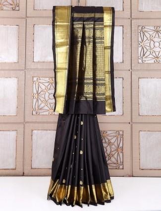 Black attractive classy silk saree