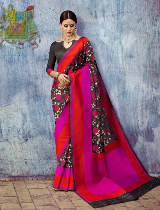 Black attractive silk saree