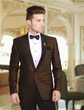 Black brown velvet coat suit