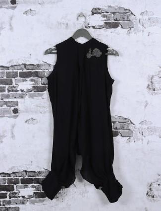 Black color designer casual top