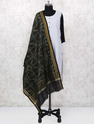 Black color gajji silk dupatta