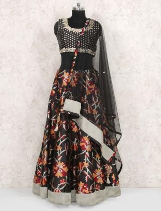 Black color georgette lehenga choli