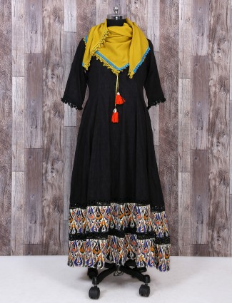 Black color gown style dress for festive