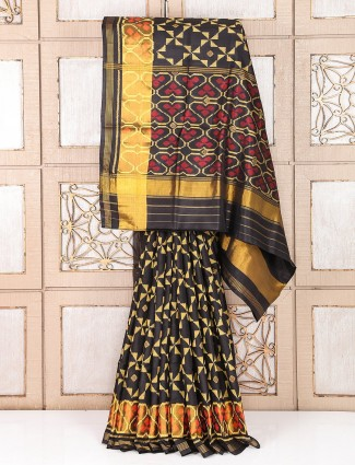 Black color hyedrabadi hydreabadi patola silk saree