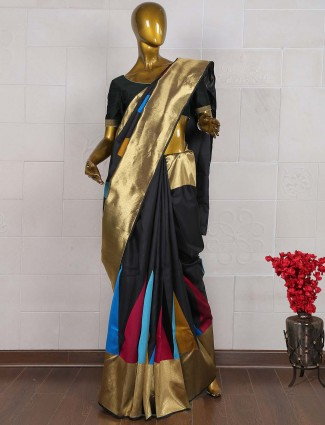 Black color kanjivaram saree