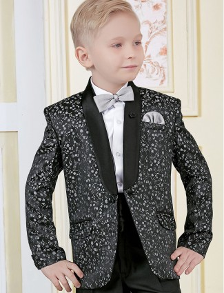 Black color printed tuxedo