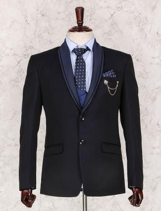 Black color three piece coat suit
