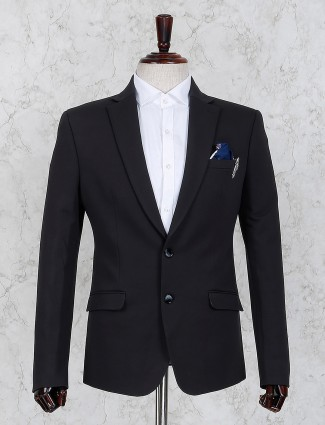 Black color two buttoned placket blazer