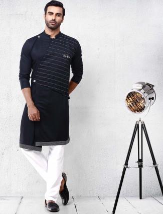 Black designer festive wear kurta suit