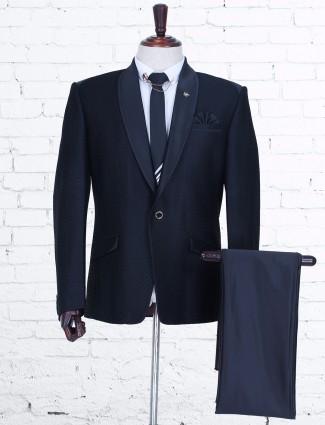 Black designer terry rayon party coat suit