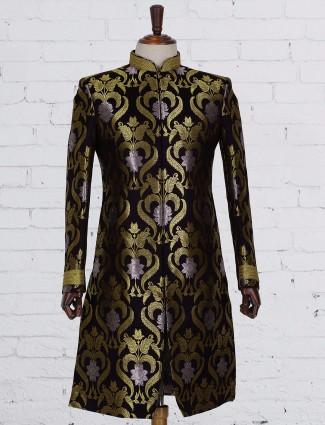 Black dressy silk indo western