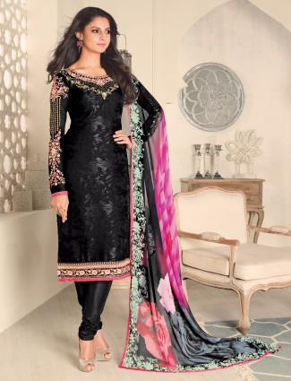 Black georgette classy ready made salwar suit