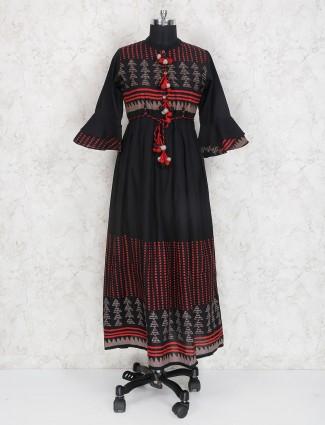 Black hue casual wear cotton kurti