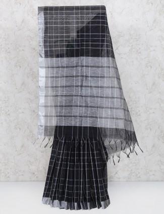 Black hue cotton silk saree
