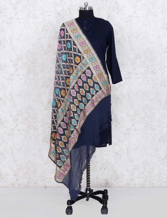 Black hue gajji silk wonderful dupatta
