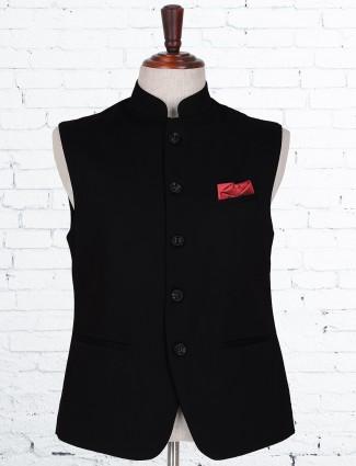 Black knitted party wear waistcoat