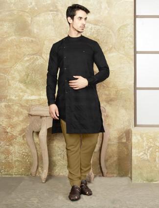 Black kurta suit for festive function