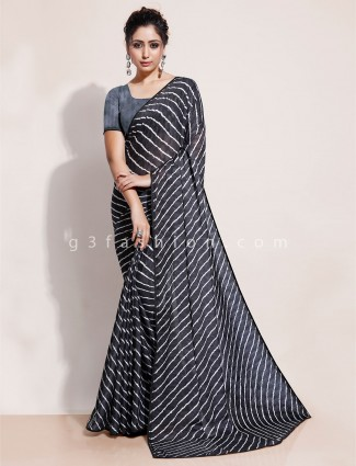Black leheriya saree in georgette