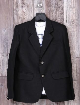 Black party wear blazer for boys