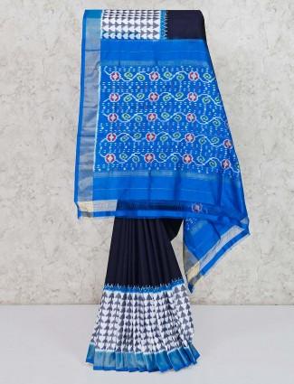 Black saree in hydrabadi patola silk