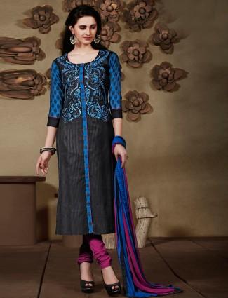 Black silk festive salwar suit