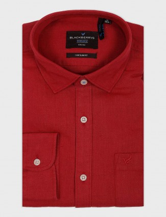 Blackberrys cotton fabric solid red shirt