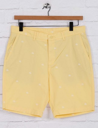Blackberrys cotton yellow printed shorts