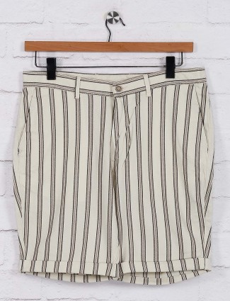 Blackberrys stripe casual cream shorts