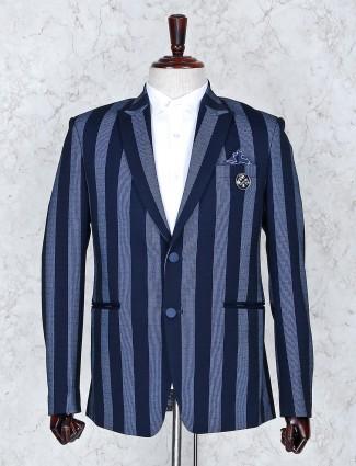 Blazer in stripe pattern navy color