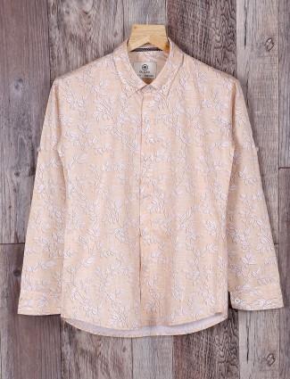 Blazo beige color printed shirt