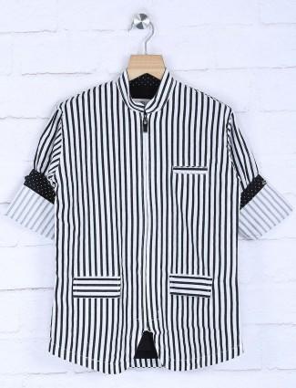 Blazo black and white stripe shirt
