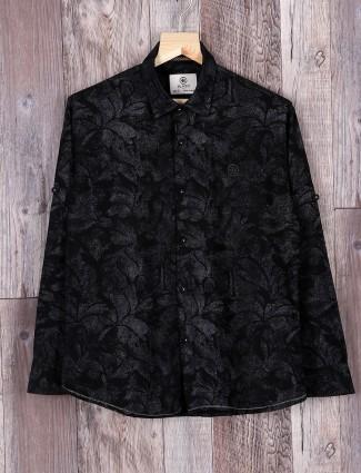 Blazo black printed shirt