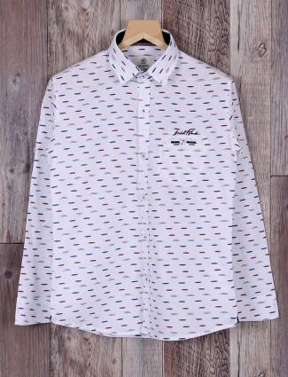 Blazo casual white cotton shirt