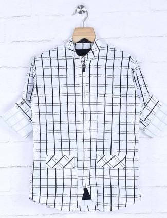 Blazo checks white hued shirt