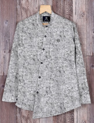 Blazo grey slim fit boys shirt
