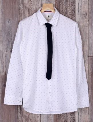 Blazo ivory white cotton shirt