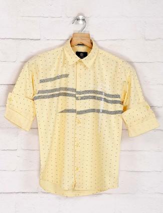 Blazo lemon yellow printed shirt
