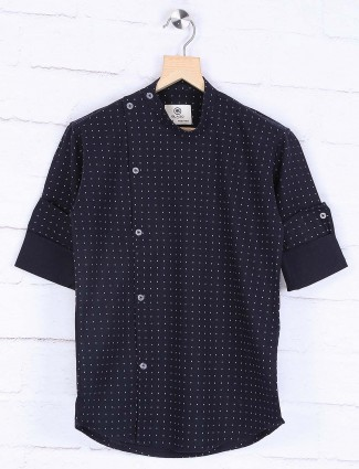 Blazo navy printed designer shirt
