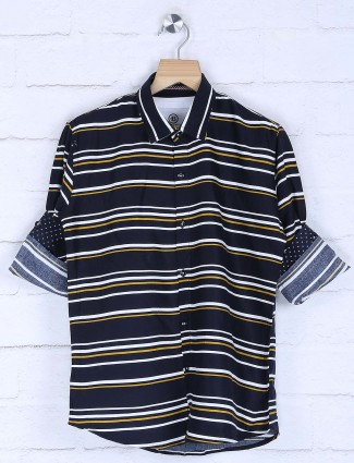 Blazo navy stripe cotton shirt