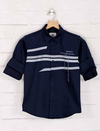 Blazo navy stripe design shirt