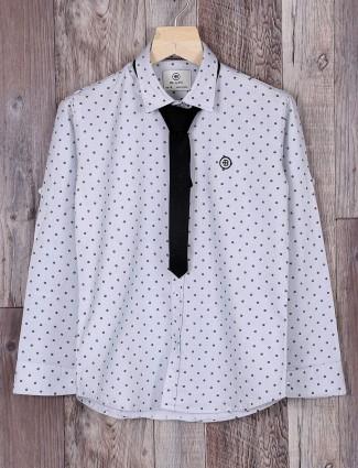 Blazo off white boys shirt