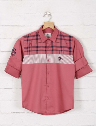 Blazo pink checks casual wear shirt
