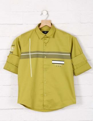 Blazo pink stripe slim collar shirt