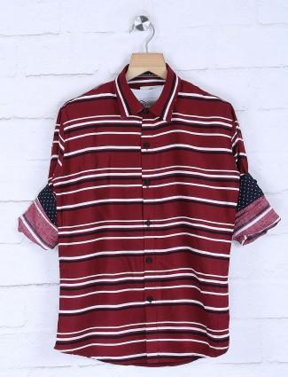Blazo presented maroon stripe shirt