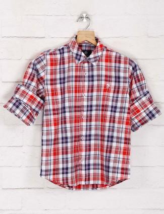 Blazo red and white checks shirt
