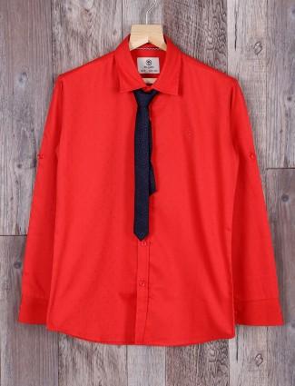 Blazo red color cotton shirt
