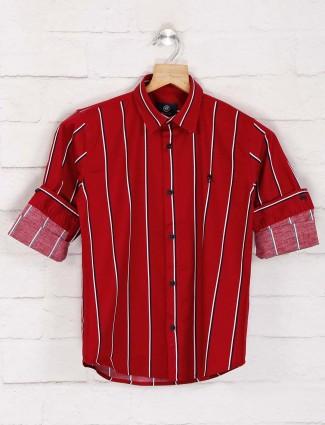 Blazo red stripe boys shirt